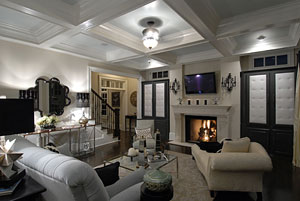 coffered ceiling in the Orleans house plan