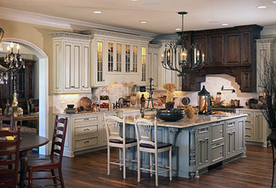 luxurious home features gorgeous high-end cabinetry