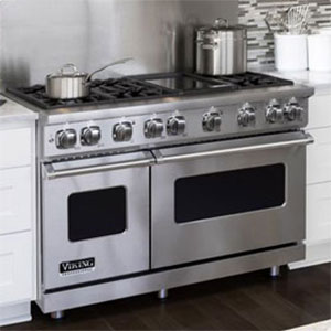 "Viking Professional 7 Series 48"" Dual Fuel Range With Griddle"