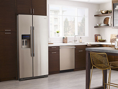 Whirlpool Contemporary Refrigerator in Sunset Bronze