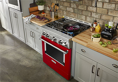 """KitchenAid 30"""" Smart Commercial-Style Gas Range with 4 Burners"""
