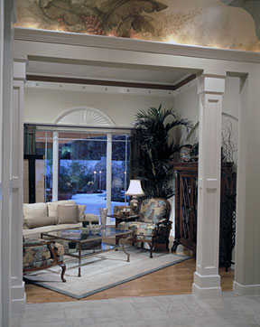 Enhance your home with decorative columns millwork the for Indoor column ideas