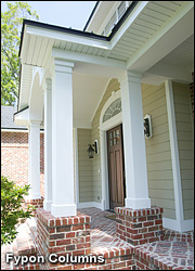 Decorative columns millwork the house designers for Decorative fiberglass columns