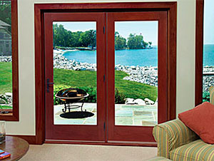 Therma-Tru Fiber-Classic Mahogany Collection French Patio Doors