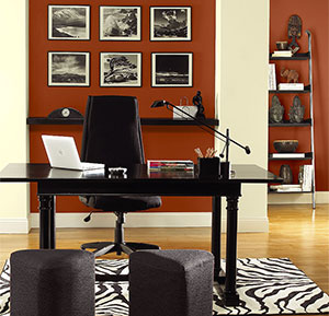 Benjamin Moore Vibrant Red Home Office