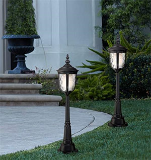 "LAMPS PLUS Super Duty Bellagio 31 1/2""-H Textured Black LED Path Light"