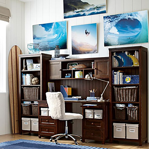 PBteen Beadboard Smart Desk + Hutch