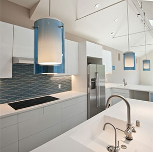 Fireclay Tile Beautiful Streamlined Kitchen