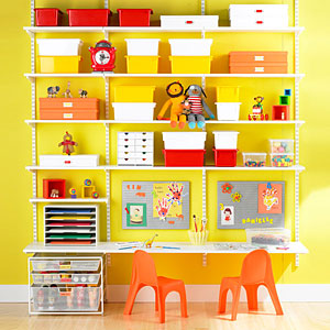 The Container Store elfa White Kids Workstation