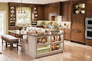 KraftMaid Natural and Warm Kitchen
