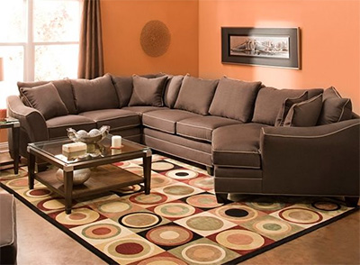 Raymour & Flanigan Foresthill 4-pc. Microfiber Sectional Sofa