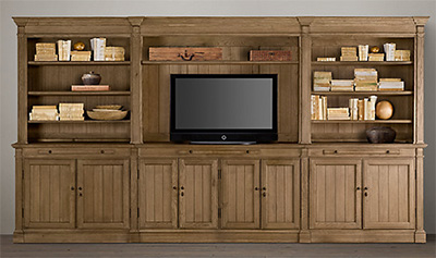 Restoration Hardware Library Medium Media System