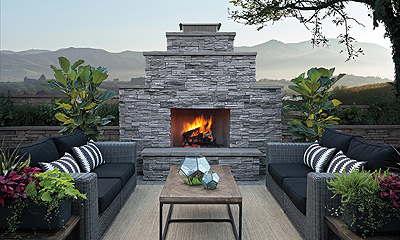 Eldorado Stone Sherwood Wood Burning Fireplace