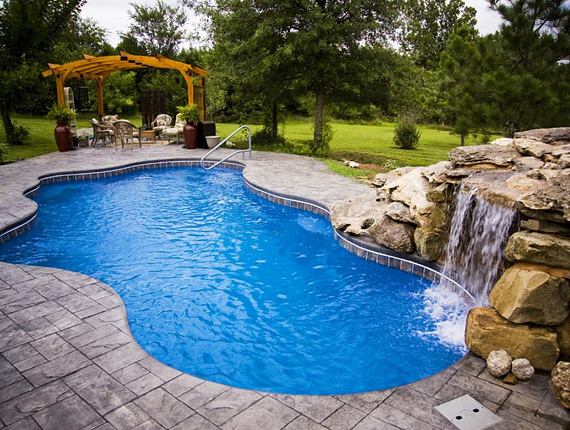 Viking Pool Waterfall