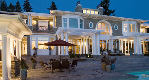 Enhance your home with outdoor lighting the house designers for Luxury exterior lighting