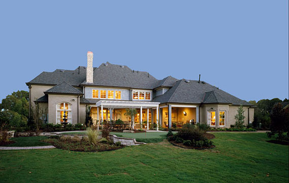 Enhance your home with outdoor lighting the house designers for Modern estate home plans