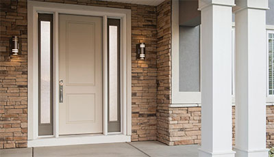 Therma-Tru Doors Smooth Star with Granite Glass & Entry Door Glass That Is Pretty and Private | The House Designers