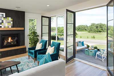 Integrity Wood-Ultrex Inswing French Doors - The Best Patio Doors To Connect To The Outdoors The House Designers