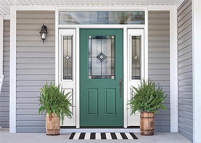 Therma-Tru Smooth-Star Door with Pembridge Glass