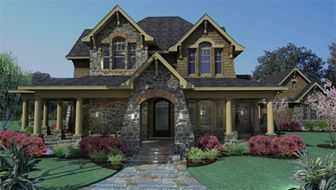 The Vida Carinosa House Plan takes full advantage of a large lot with