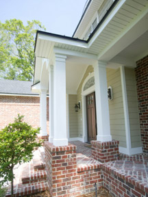 Designing a fabulous front porch the house designers for Fypon pvc column wraps