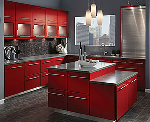 KraftMaid Red Kitchen