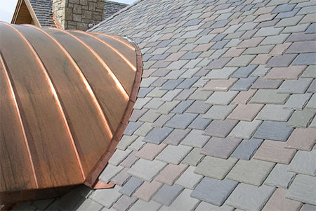 The history of slate colors and home styles the house for Davinci roofscapes problems