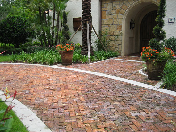 Attractive This Walkway Made With Boral Brick® Pavers Is A Beautiful Mix Of Nature And  Industry. The Potted Plants Provide A Good Transition Between The Two  Surfaces.