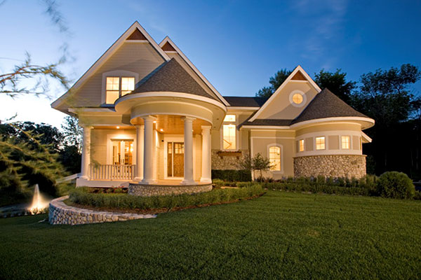 unique two story house plan - Great Home Designs