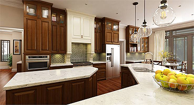 Choose the proper surface for a gorgeous kitchen.
