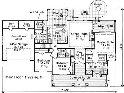 House Plan 9664 Floor Plan