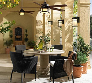 LAMPS PLUS Outdoor Dining Room