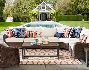 Pottery Barn Torrey All-Weather Wicker Roll-Arm Sectional Components