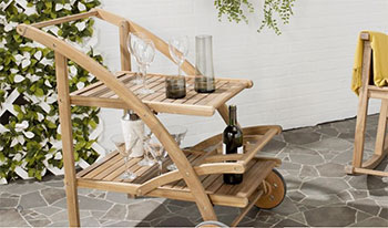 Raymour and Flanigan Lodi Outdoor Serving Cart