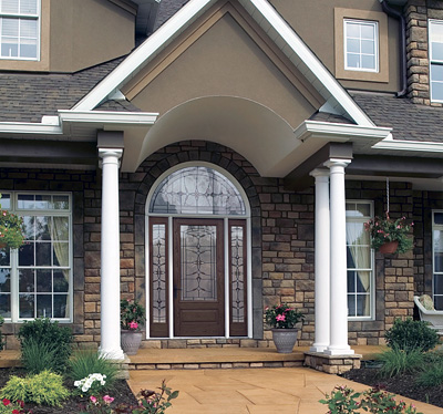 Designing your front entryway the house designers for Exterior entryway designs