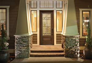 Make your entryway shine with decorative glass the house for Therma tru classic craft american style collection