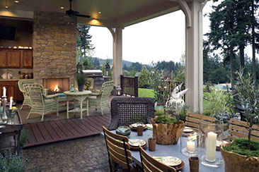 Creating the Perfect Outdoor Living Room | The House Designers