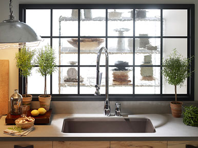 Riverby™ self-rimming single basin kitchen sink