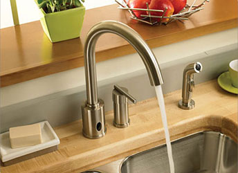The Parma Faucet is an automatic, hands-free faucet