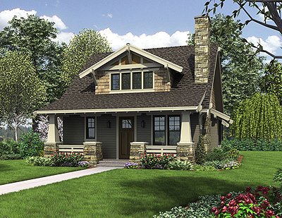 Bungalow floor plans are very popular in the Western US.