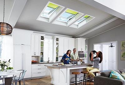 """VELUX Solar Powered """"Fresh Air"""" Skylights"""