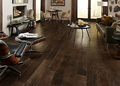 Avella Ultra Smoked Whiskey Oak Porcelain Tile