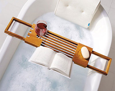 Bed Bath & Beyond Teak Bathtub Tray Caddy