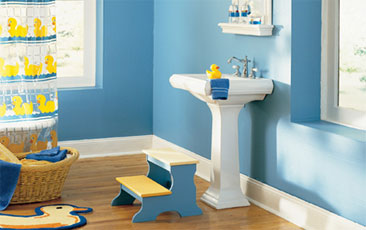 Designing Your Kids Bath How To Make It Fun The House Designers - Best flooring for kids bathroom