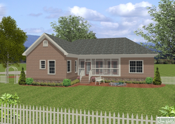 Great traditional plan under 2000 square feet the for Farmhouse plans under 2000 sq ft
