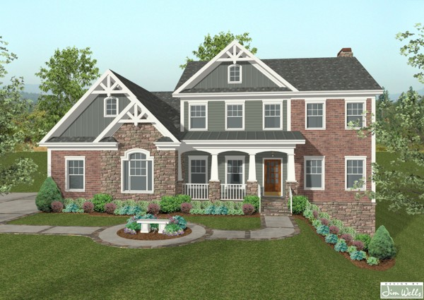 Charming Craftsman House Plan The House Designers