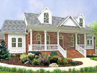 Free House Plan free house plan - the delafield, a gracious country-style ranch