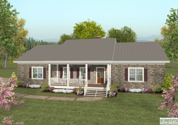 Small ranch house plans basement for Small ranch style homes