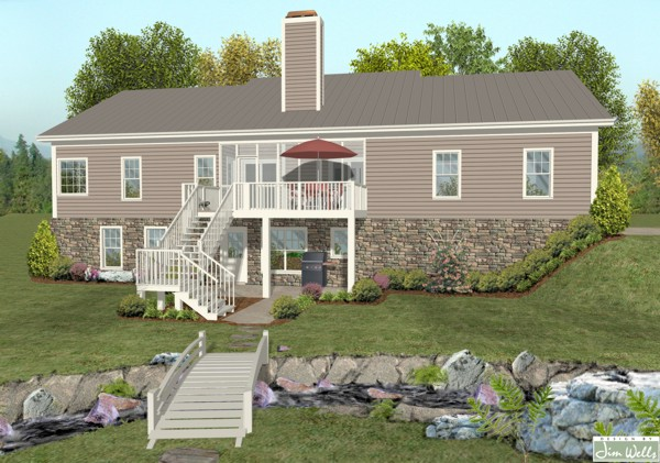 house plans with finished basement great ranch w optional finished basement the house designers 3774