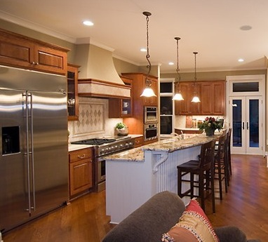 Create A Luxurious Kitchen Design With Rich Bamboo Flooring Marble Countertops And High End Stainless Steel Appliances